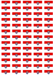 Hesse Flag Stickers - 65 per sheet